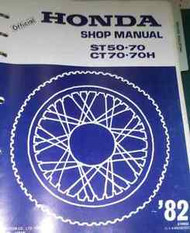 1976 1977 1978 1979 1980 1981 1982 HONDA ST50 70 Service Shop Repair Manual OEM