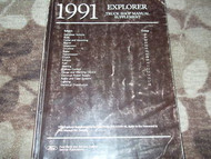 1991 91 FORD EXPLORER TRUCK Service Shop Repair Manual Supplement OEM