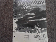 1998 Ski Doo Tundra R Touring SLE Service Repair Shop Manual Supplement OEM BOOK