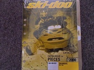 2000 Ski Doo Skandic 380 500 Parts Accessories Catalog Manual Factory OEM Book