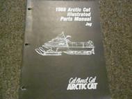 1988 Arctic Cat Jag Illustrated Service Parts Catalog Manual FACTORY OEM
