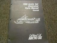 1988 Arctic Cat Cheetah Illustrated Service Parts Catalog Manual FACTORY OEM