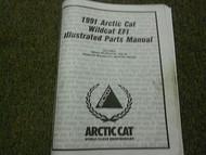 1991 Arctic Cat Wildcat EFI Illustrated Service Parts Catalog Manual FACTORY OEM