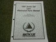 1991 Arctic Cat Lynx Illustrated Service Parts Catalog Manual FACTORY OEM