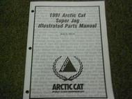 1991 Arctic Cat Super Jag Illustrated Service Parts Catalog Manual FACTORY OEM