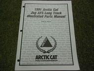 1991 Arctic Cat Jag AFS Long Track Illustrated Service Parts Catalog Manual OEM