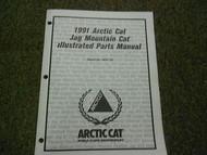 1991 Arctic Cat Jag Mountain Cat Illustrated Service Parts Catalog Manual OEM