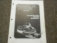 1978 Arctic Cat Panther Illustrated Service Parts Catalog Manual FACTORY OEM