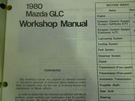1980 Mazda GLC Service Repair Shop Manual FACTORY OEM BOOK 80