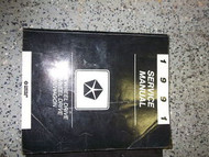1991 Chrysler Dodge FWD Van Wagon Service Shop Repair Workshop Manual OEM 1991