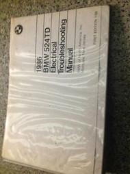 1986 86 BMW 524TD 524 TD Electrical Troubleshooting Service Repair Manual BINDER