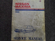 1986 Nissan Maxima Service Repair Shop Manual FACTORY DEALER OEM BOOK 86