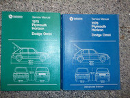 1978 DODGE OMNI PLYMOUTH HORIZON Service Shop Repair Manual FACTORY SET OEM HUGE