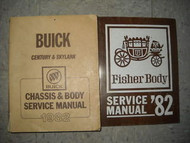 1982 BUICK SKYLARK Shop Repair Service Manual SET OEM W Fisher Body Book