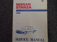 1986 Nissan Stanza Service Repair Shop Manual Factory Dealer Ship OEM Book 86