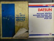 1983 Datsun Nissan Sentra Service Repair Shop Manual SET FACTORY OEM OEM 83