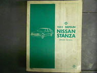 1983 Datsun Nissan Stanza Service Repair Shop Manual Factory OEM 83