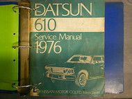 1976 Datsun 610 Service Repair Shop Manual Factory OEM Binder SET 76