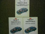 1997 Kia Sephia Service Repair Shop Manual Set Factory OEM 97