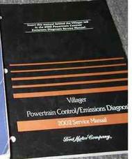2002 Mercury Villager Powertrain Control Emissions Diagnosis Service Manual PCED