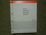 2001 Isuzu Service Pricing System List Service Manual Factory OEM Book