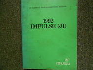 1992 ISUZU IMPULSE (JI) Electrical Troubleshooting Shop Manual OEM BOOK 92