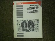 1985-1988 I-Mark (JT) Driveability Set-Up Procedures Manual FACTORY OEM BOOK
