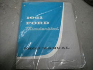 1961 Ford Thunderbird T-Bird Service Shop Repair Manual DEALERSHIP OEM 61 OEM
