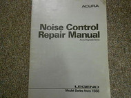 1986 Acura Legend Noise Control Service Repair Shop Manual FACTORY OEM BOOK 86