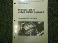 1992 Subaru ABS 2E Introduction Service Repair Shop Manual FACTORY OEM BOOK 92