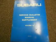 1990 Subaru Service Bulletins Service Repair Shop Manual FACTORY OEM BOOK 90