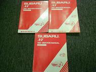 1987 Subaru XT Service Repair Shop Manual SET FACTORY OEM BOOKS 87