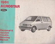 1991 FORD AEROSTAR Electrical Wiring Diagrams Service Shop Repair Manual EWD 91