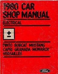 1980 Ford MERCURY GRANADA BODY CHASSIS Repair Service Shop Manual DEALERSHIP OEM