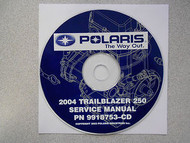 2004 POLARIS TRAILBLAZER 250 Service Repair Shop Manual CD FACTORY OEM 04
