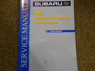 2002 Subaru Automatic Transmission Service Repair Shop Manual FACTORY OEM BOOK