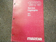 1979 Mazda 323 GLC Service Highlights Manual OEM FACTORY BOOK RARE 79