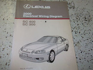 2000 Lexus SC400 SC300 300 SC 400 Electrical Wiring Diagram Service Shop Manual