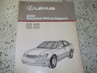 2000 Lexus GS300 GS400 400 Electrical Wiring Diagram Service Shop Manual OEM EWD