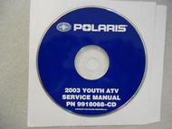 2003 POLARIS YOUTH ATV Service Repair Shop Manual CD FACTORY OEM HOW TO FIX 03