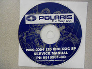 2000 2001 2002 2003 2004 POLARIS 120 PRO X/XC SP Service Repair Shop Manual CD