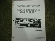 1983-1985 Mazda 626 Tune Up Procedures Service Repair Shop Manual OEM 83 84 85