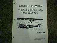 1983-1985 Mazda GLC Tune Up Procedures Service Repair Shop Manual OEM 83 84 85