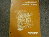 1982 Mazda Piston Engine Overhaul Service Repair Shop Manual FACTORY OEM BOOK 82