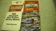 1988 Oldsmobile Cutlass Supreme Service Manual Set 88