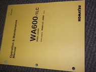 KOMATSU WA600 1LC WHEEL LOADER Service Shop Repair Manual WA600 1LC A5001 SERIAL