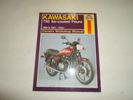 1980 1991 Haynes Kawasaki 750 Air Cooled Fours Owners Workshop Manual FACTORY
