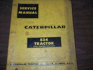 Caterpillar 834 Tractor Service Repair Shop Manual BINDER CAT 8 3 4 Tractor 834