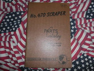 Caterpillar 470 Scraper Parts Book Catalog 60C1 & up