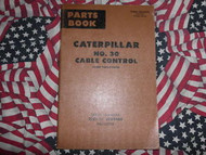 Caterpillar 30 Cable Control Parts Catalog Front Drum